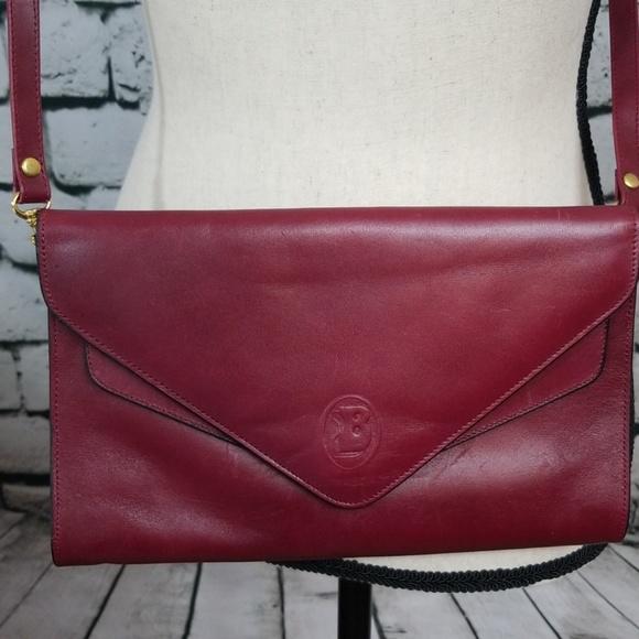 Bracci Handbags - Bracci Red Leather Cross Body Purse